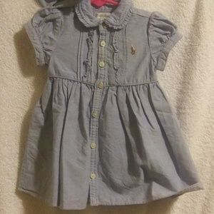 Ralph Lauren Chambray Dress w/ Bloomers Sz. 9 Mo